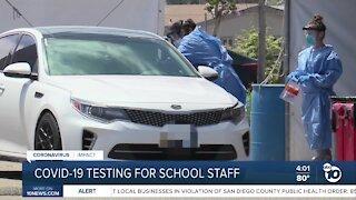 COVID-19 testing for school staff