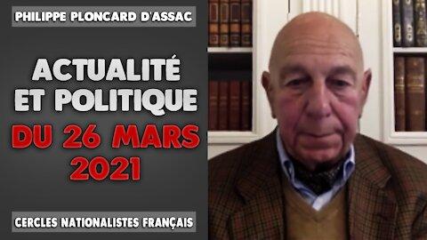 Actualité et politique du 26 mars 2021