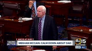 """Meghan McCain urges people to """"chill out"""" about John McCain's health"""