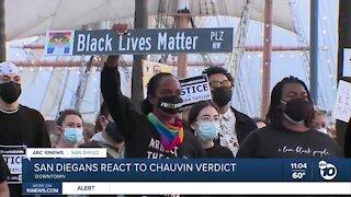 San Diegans react to Chauvin verdict