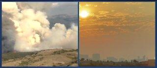 Wildfire smoke from California in Las Vegas