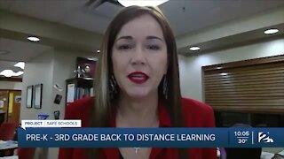 Pre-K - 3rd grade back to distance learning