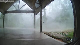 Insanely powerful microburst caught on camera during thunderstorm