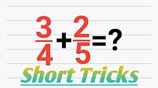 Easy math shortcut tricks magic fraction