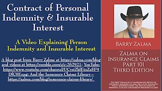 Contract of Personal Indemnity & Insurable Interest