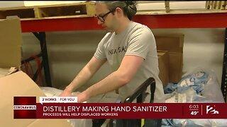 Distillery Making Hand Sanitizer
