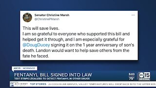 Arizona governor signs bill legalizing drug-testing strips