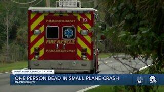 1 killed in small plane crash in Martin County