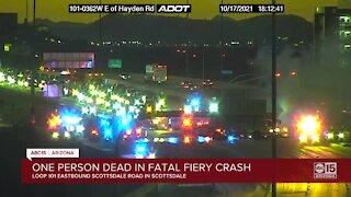One dead in fiery crash on Loop 101 in Scottsdale
