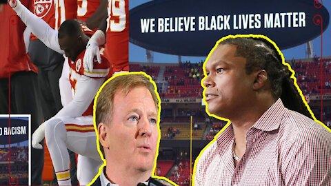 "Lavar Arrington HAMMERS the Woke NFL for playing ""Black National Anthem"" before games!"