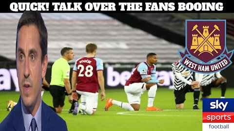 The Media & Sky Sports Covered Up West Ham Fans Booing Their Own Players For Kneeling To BLM