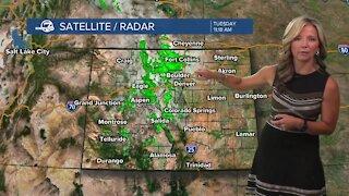 Tuesday 11 a.m. Colorado weather forecast