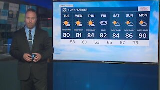 Forecast - Sun this morning, more clouds in the afternoon. Highs in the mid/upper 70s
