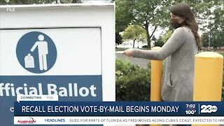 Recall Election vote-by-mail begins Monday