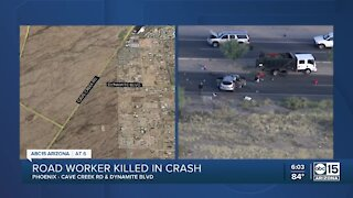 Worker hit and killed near Cave Creek Road and Dynamite