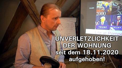 STÜRMUNG DER WOHNUNG EINES HEILPRAKTIKERS.