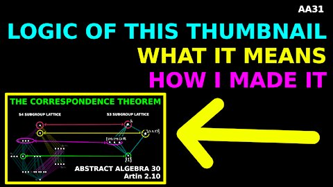 Behind the scenes of the epic AA30 thumbnail | Abstract Algebra 31