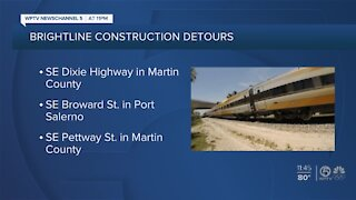Brightline construction could affect traffic in Martin County