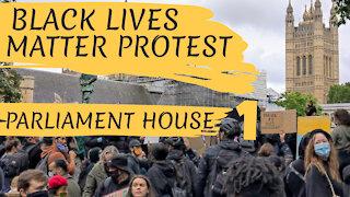 BLM PROTEST PARLIAMENT SQUARE - LONDON, ENGLAND - 6TH JUNE 2020