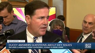 Gov. Ducey answers questions about key issues in Arizona