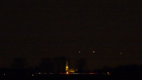 Videos and pictures of UFOs hover and fly in the area