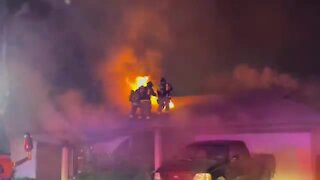 3 firefighters injured, dog missing after house fire in Glendale