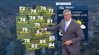 Temps and humidity increase on Friday