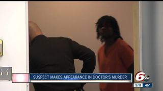 Suspect in doctor's murder makes first court appearance