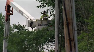 We Energies works to restore power to thousands of customers after overnight storm