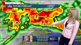 Severe storms possible beginning Tuesday evening