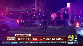 UPDATE: Six people shot, gunman at large