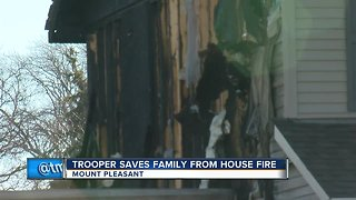 Trooper saves family from house fire in Mount Pleasant