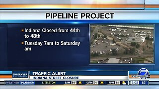 Water pipe replacement project impacting traffic