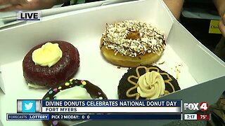 Divine Donuts in Fort Myers Celebrates National Donut Day - 7am live report