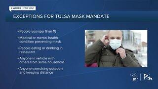 Masks mandatory in Tulsa