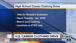 High school career clothing drive