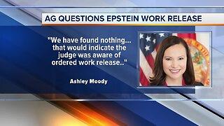 Attorney general questions Epstein work release