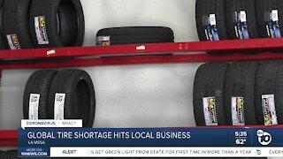Global tire shortage hits La Mesa business