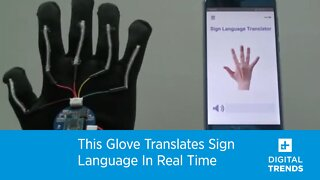 This Glove Translates Sign Language In Real Time!