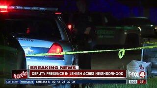 Deputies investigate in Lehigh Acres neighborhood Friday morning