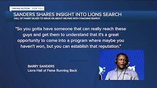 Barry Sanders talks Lions coaching search on SiriusXM