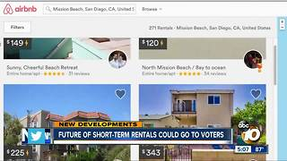 Future of short-term rentals could go to voters