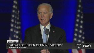 President-elect Joe Biden claiming victory