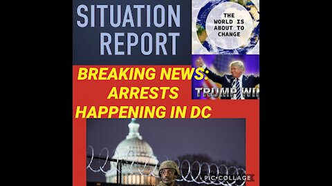BREAKING NEWS: blackout in DC, arrests appear to be made then fireworks?