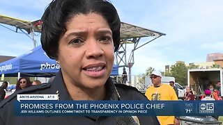 Phoenix Police Chief Jeri Williams outlines commitment to transparency
