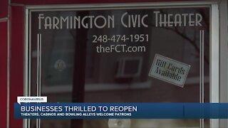 Entertainment venues back open in metro Detroit after partial shutdown