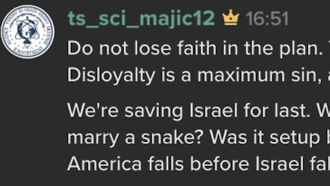 DO NOT LOSE FAITH IN THE PLAN 🇺🇸 Majestic 12 Keybase short thread @ts_sci_majic12