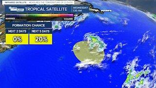 Potential tropical development off Bermuda coast poses no threat to land
