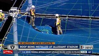 Stadium Update: Workers install roof at Allegiant Stadium