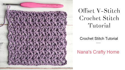Offset V Stitch Crochet Stitch Tutorial